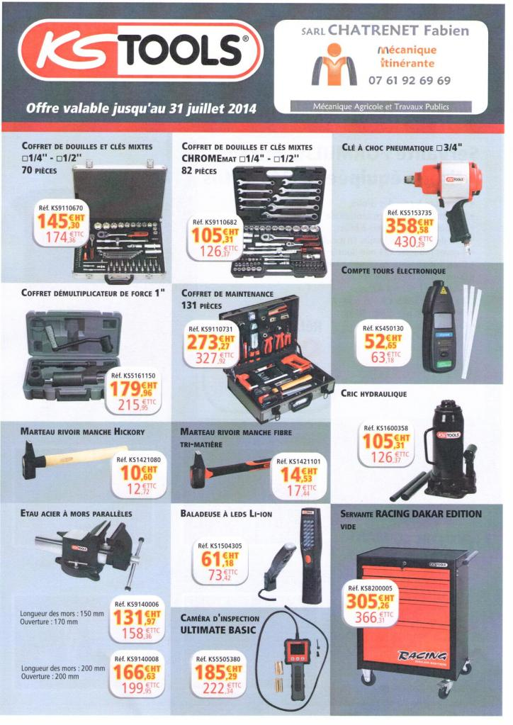 promotion outillage KS TOOLS