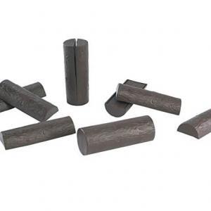 Rondins de bois fendus (10 pièces)