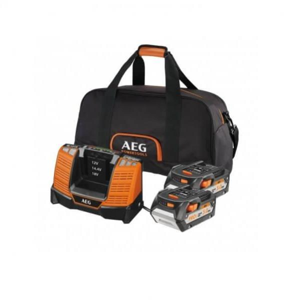 Pack 2 batterie 18V 5Ah + chargeur+ sac AEG